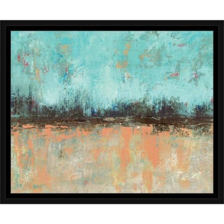 Buy Trendy Triangle Textured Contemporary Modern Abstract Painting With Regard To Abstract Horizon Wall Art (View 9 of 15)