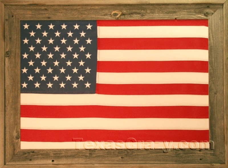 Buy Usa American Flags Framed – 2 X 3 And 3 X 5 Foot Within American Flag Fabric Wall Art (Image 8 of 15)