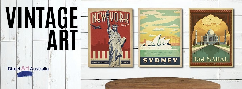 Buy Vintage Art Prints Posters On Canvas Online Antiques With Regard To Canvas Wall Art Of Perth (Image 9 of 18)