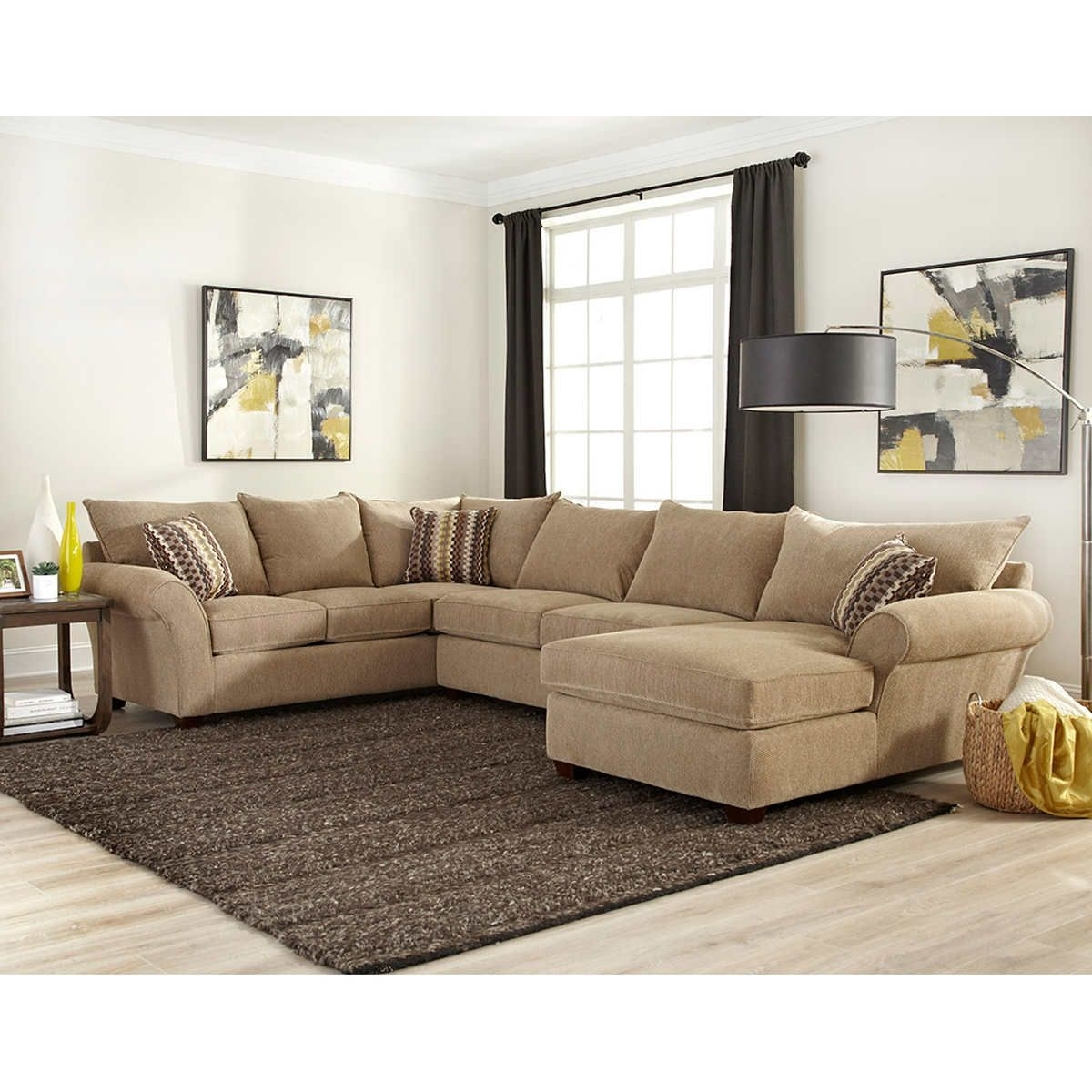 Cabot Fabric Sectional | For My Home | Pinterest | Basements Pertaining To Fabric Sectional Sofas (View 7 of 10)
