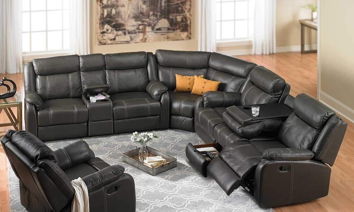 Cache Reclining Storage Sectional | Haynes Furniture, Virginia's Pertaining To Sectional Sofas With Recliners (Image 3 of 10)