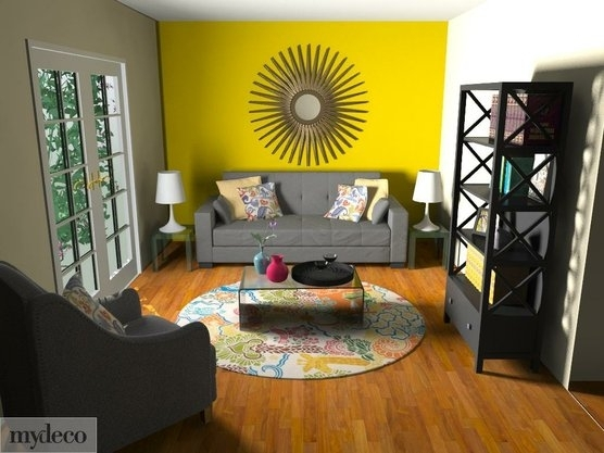 Cachet Style: Makeover Your Home Online In 3D | Yellow Accent Intended For Yellow Wall Accents (Image 2 of 10)