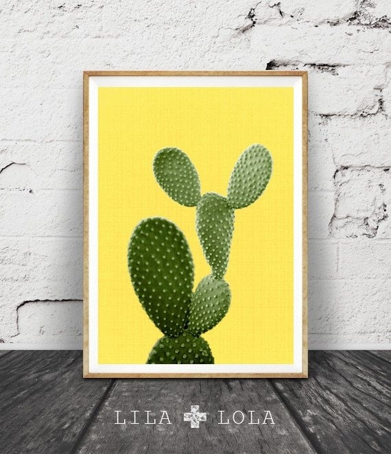 Cactus Wall Art, South Western Print, Mexican Decor, Digital In Arizona Canvas Wall Art (View 14 of 15)