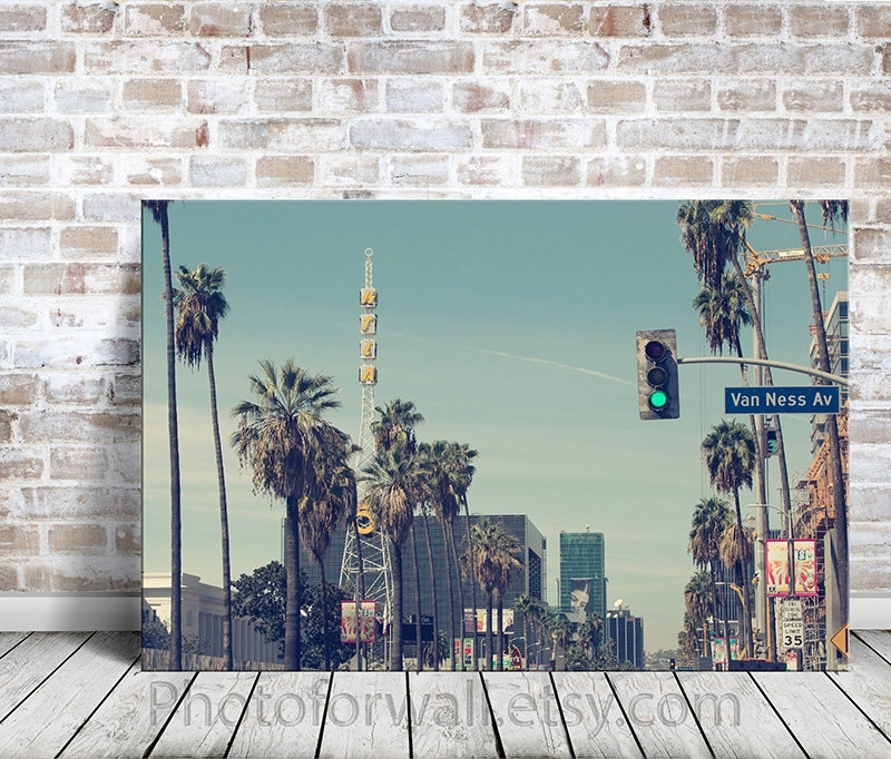 California Wall Art, Large Wall Art, Large Wall Art Canvas, Office Throughout Los Angeles Canvas Wall Art (Image 4 of 15)