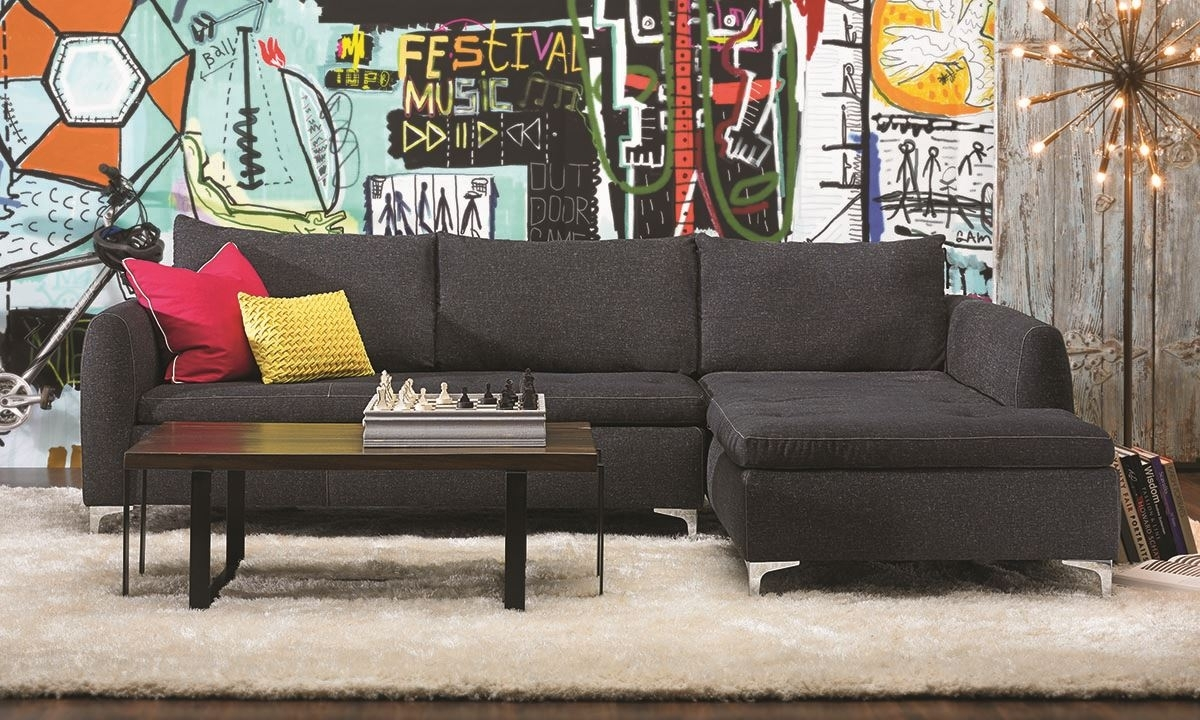Camden Chaise Sectional Sofa | Haynes Furniture, Virginia's With Sectional Sofas With Chaise (Image 1 of 10)