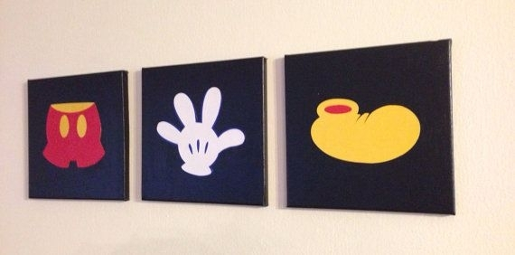 Canvas Art | Baby J <3 | Pinterest | Mickey Mouse, Canvases And Mice In Mickey Mouse Canvas Wall Art (View 2 of 15)