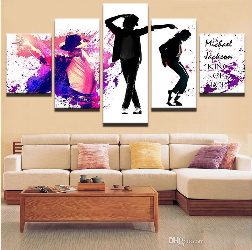 Canvas Art Pictures Of Dancing Michael Jackson Abstract Style Oil In Michael Jackson Canvas Wall Art (Image 3 of 15)