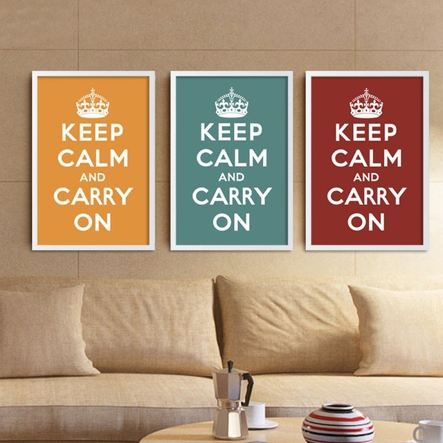 Canvas Art Print Poster Keep Calm And Carry On Inspired Quotes Within Keep Calm Canvas Wall Art (View 5 of 15)
