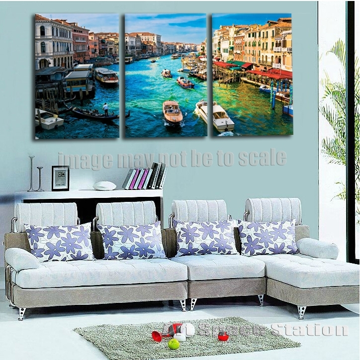 Canvas Art Print Venice Italy Grand Canal From Rialto Bridge Within Italy Canvas Wall Art (Image 6 of 15)