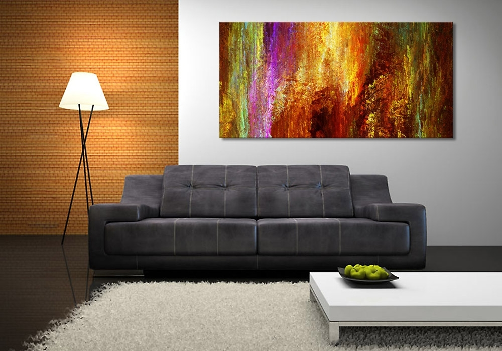 Canvas Art Prints For Sale Modern Art Print On Canvas Luminous With Regard To Framed Canvas Art Prints (View 11 of 15)