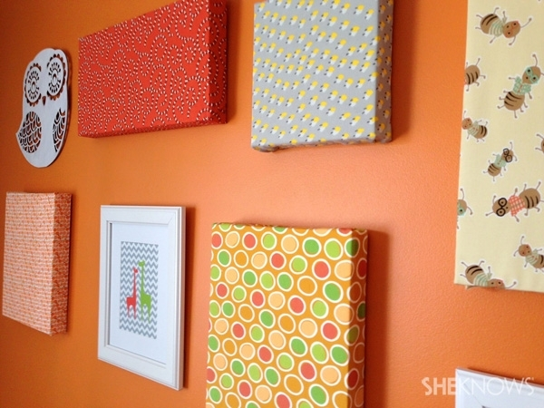 Canvas Artwork In 8 Easy Steps For Diy Fabric Canvas Wall Art (Image 2 of 15)