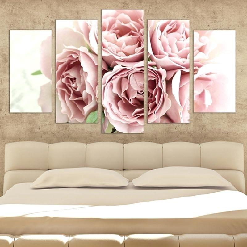 Canvas Bedroom Wall Art 1 Piece Huge Pictures Living Room Wall Art Pertaining To Roses Canvas Wall Art (Image 5 of 15)