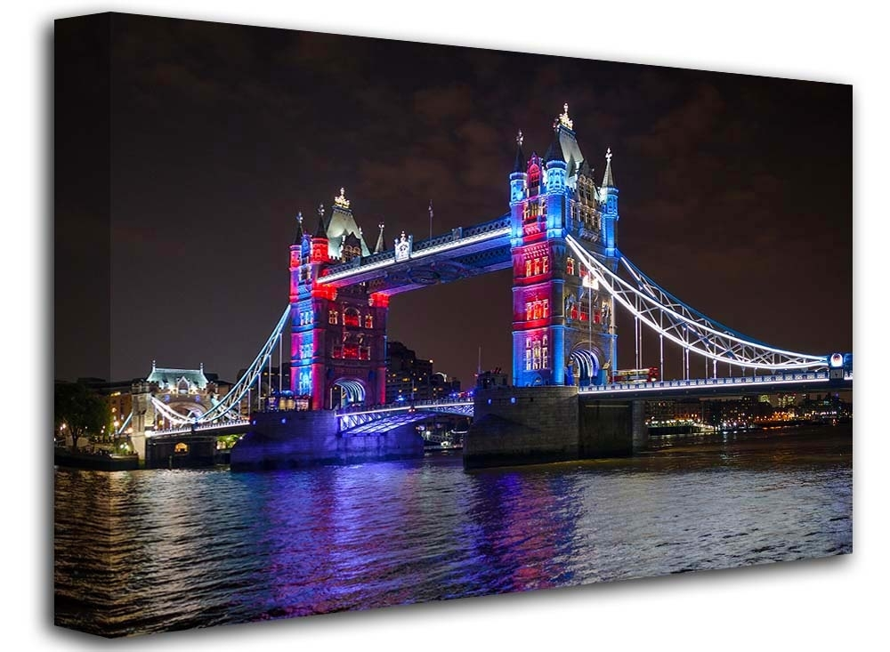 Featured Image of Canvas Wall Art Of London
