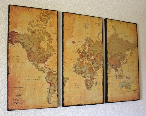 Canvas Map Wall Art – Just Two Crafty Sistersjust Two Crafty Sisters Inside Maps Canvas Wall Art (Image 4 of 15)