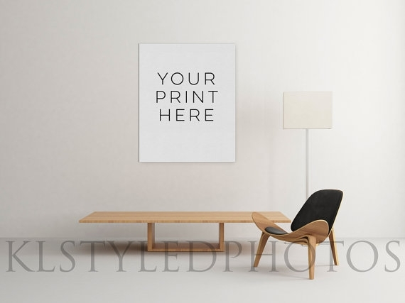 Canvas Mockup 4/ Single Canvas Art Display/ Pngklstyledphotos In Mockup Canvas Wall Art (Image 11 of 15)