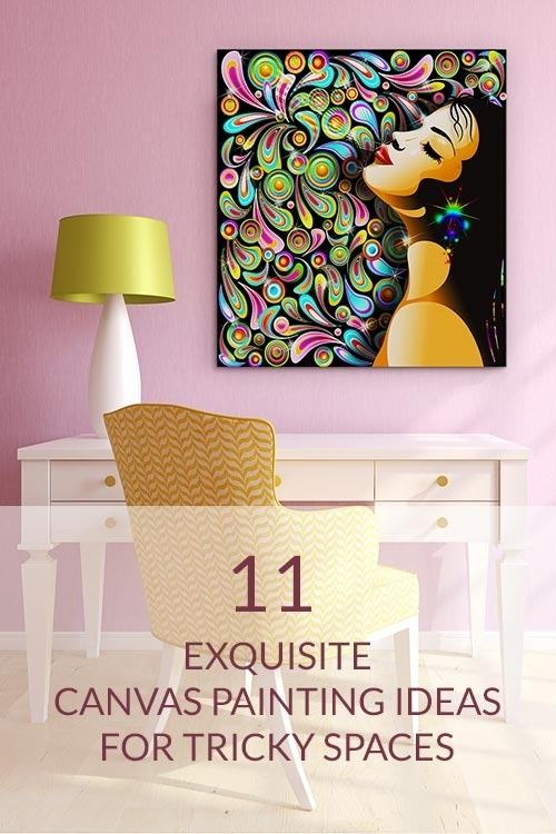 Canvas Painting Ideas For Tricky Spaces | Wall Art Prints For Quirky Canvas Wall Art (Image 6 of 15)