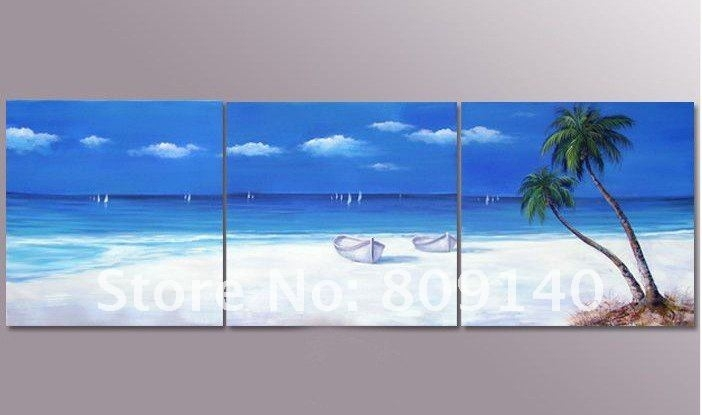 Canvas Painting Of Beach – Best Image Wallpaper Regarding Canvas Wall Art Beach Scenes (View 3 of 15)