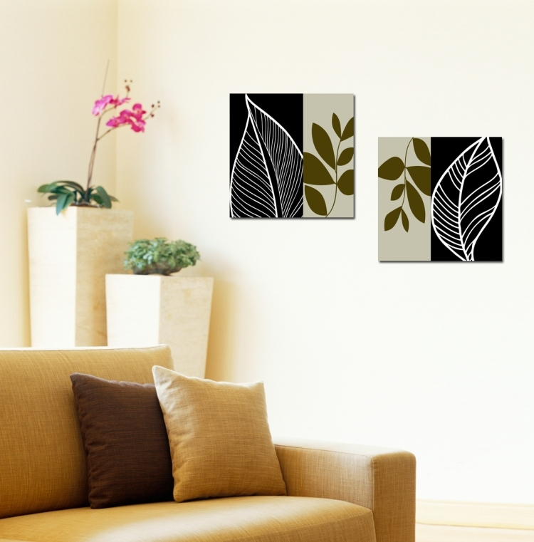 Canvas Prints Home Decor, Wholesale Picture Frames And Wholesale Regarding Leaves Canvas Wall Art (Image 4 of 15)
