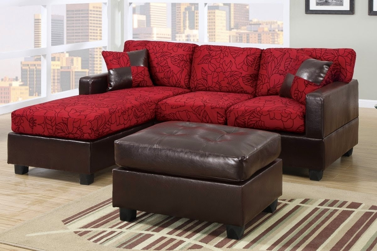 Canvas Sofa Bed With Chaise Mixed Light Blue Painted Wall With Pertaining To Red Leather Sectionals With Ottoman (Image 3 of 10)