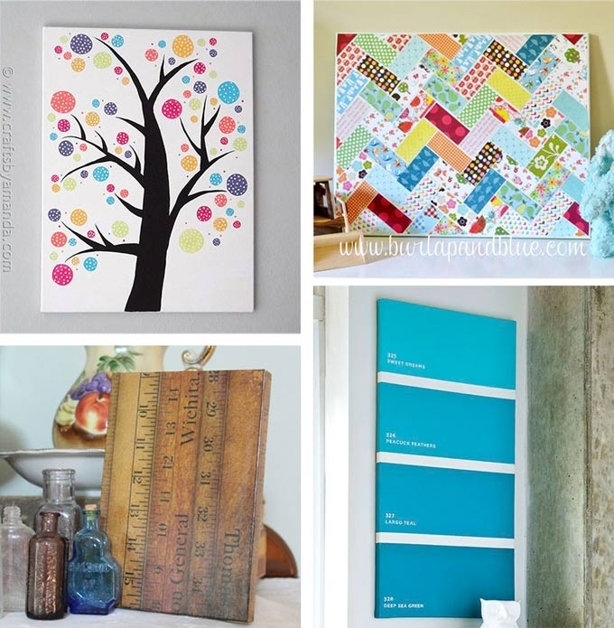 Canvas Wall Art Ideas: 30+ Canvas Tutorials Throughout Homemade Canvas Wall  Art (Image