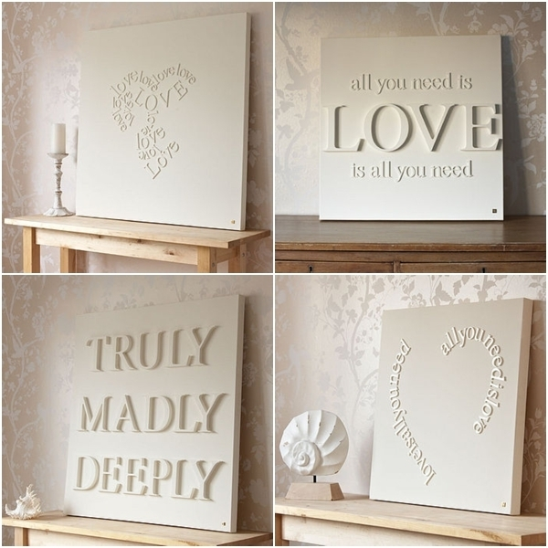 Canvas/wall Art – Mod Podge Rocks – Mod Podge Crafts Diy, Blogger With Regard To Love Canvas Wall Art (View 4 of 15)
