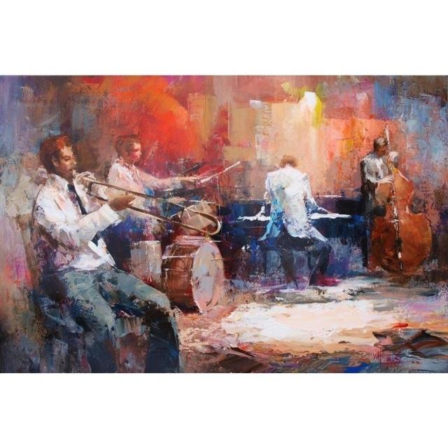 Canvas Wall Art Music Jazz Band Willem Haenraets Canvas Oil Within Jazz Canvas Wall Art (View 8 of 15)
