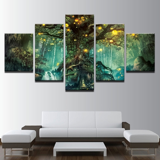Canvas Wall Art Pictures Frames Living Room 5 Pieces Enchanted In Nottingham Canvas Wall Art (View 12 of 15)