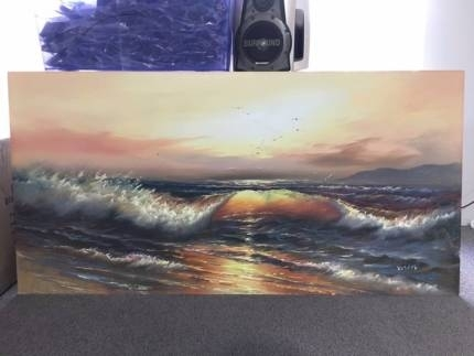 Canvas Wall Art Sunset | Art | Gumtree Australia Stirling Area Inside Mandurah Canvas Wall Art (Image 5 of 15)