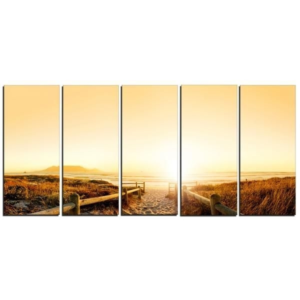 Cape Town Beach Panorama Canvas Wall Art Print | Products Intended For Cape Town Canvas Wall Art (View 10 of 15)