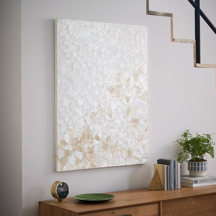 Capiz Wall Art – Crystal Formation | West Elm Throughout Rectangular Wall Accents (Image 5 of 15)