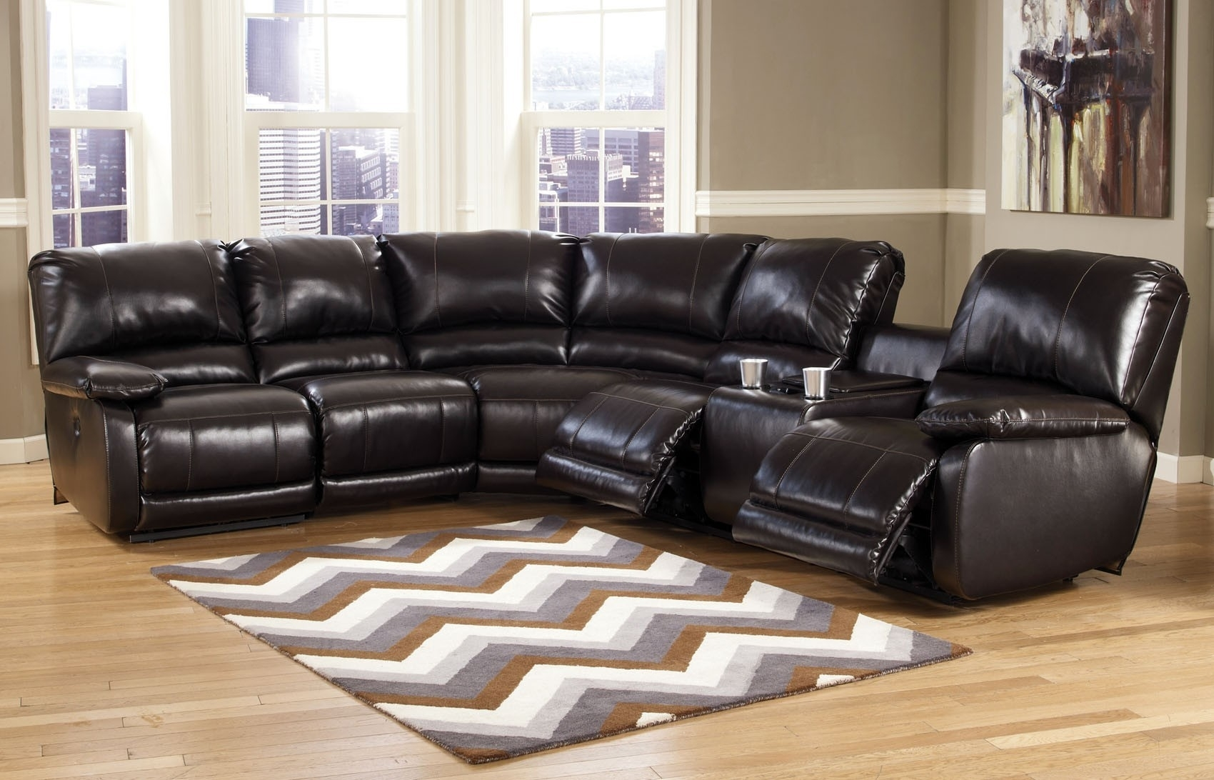 Capote 4 Pc Power Reclining Sectional | Ashley Furniture | Orange Throughout Orange County Ca Sectional Sofas (View 7 of 10)