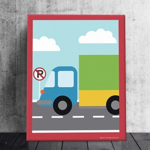 Cars | Brands | Pickleberry Kids Within Cars Theme Canvas Wall Art (Image 4 of 16)