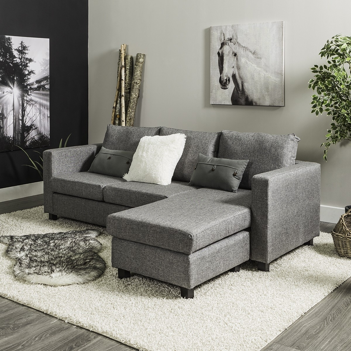 Casa Corner Sofa (Grey) For Jysk Sectional Sofas (Image 4 of 10)