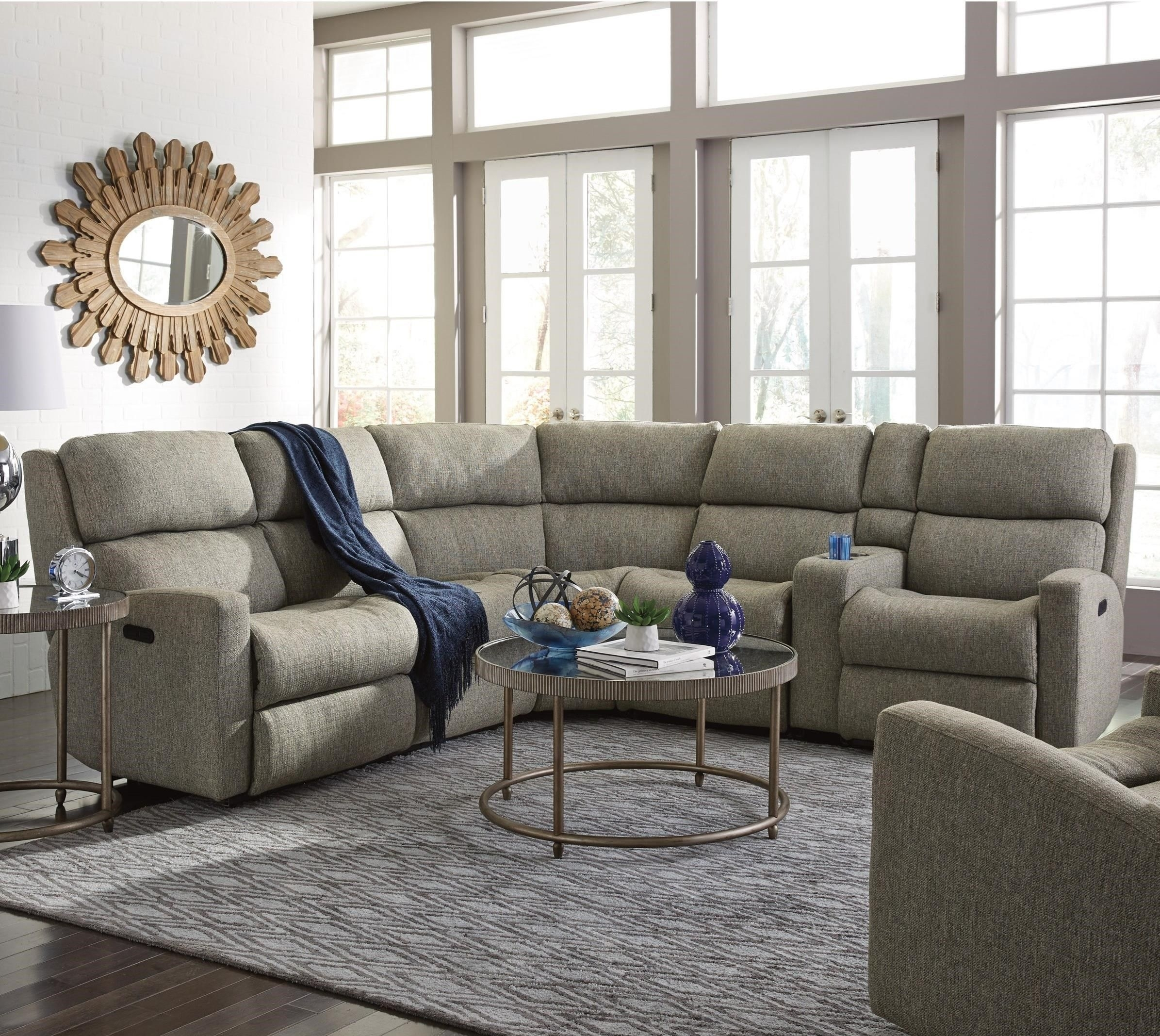 Catalina 6 Pc Reclining Sectional Sofaflexsteel | Fabulous Regarding Hawaii Sectional Sofas (Image 3 of 10)