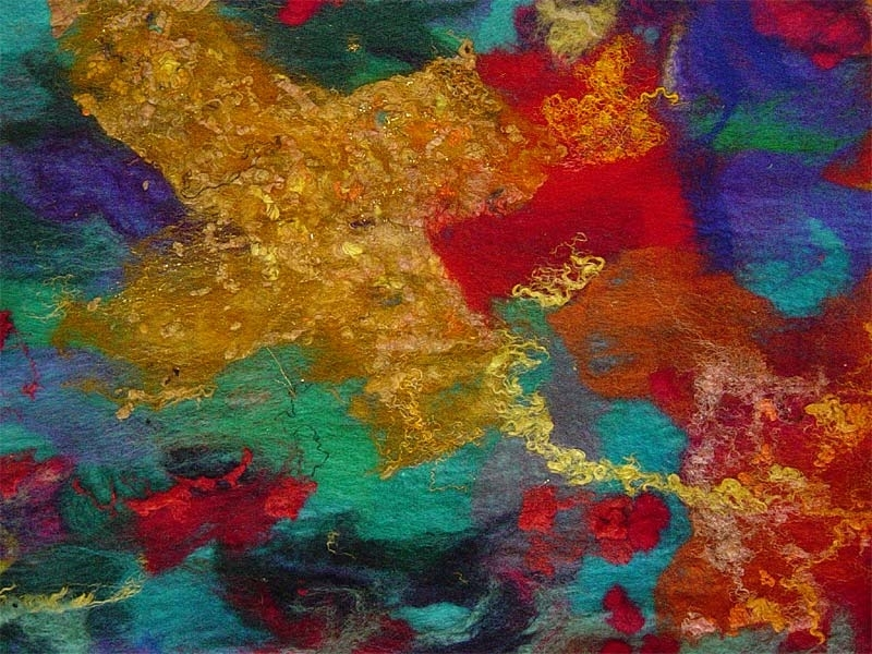 Celebration' (Detail) – Contemporary Abstract Textile Art Wall Pertaining To Contemporary Textile Wall Art (Image 5 of 15)