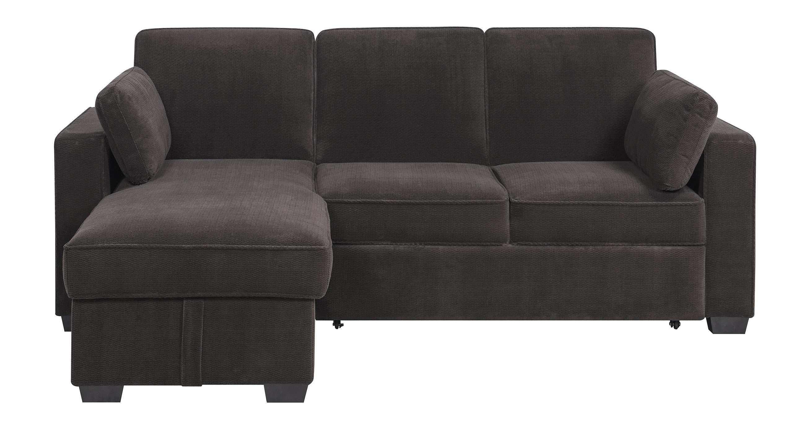 Chaela Sectional Convertible Sofa Dark Greyserta / Lifestyle With Regard To Convertible Sofas (View 9 of 10)