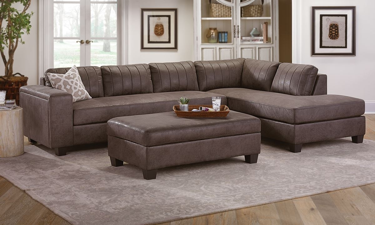 Chaise Sectional With Storage Ottoman | The Dump Luxe Furniture Outlet Inside Sectionals With Chaise And Ottoman (Image 3 of 10)