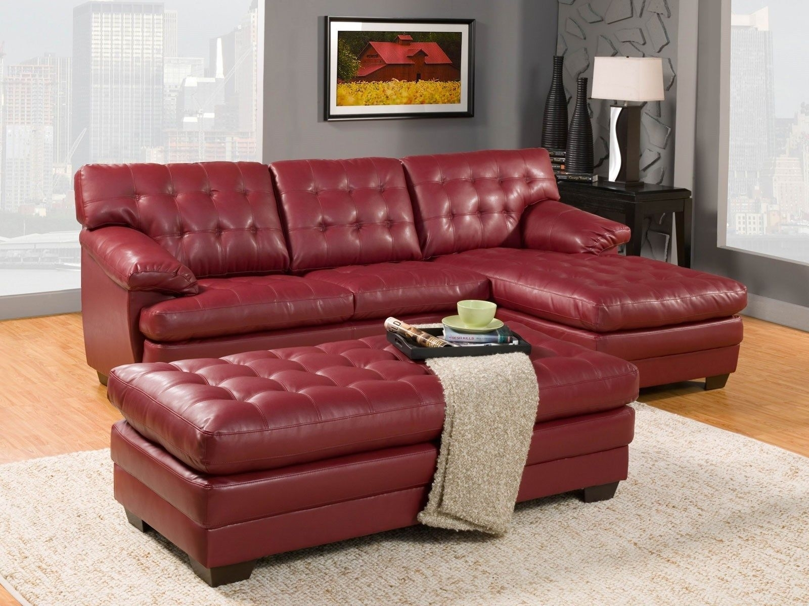 Chaisson Contemporary Bonded Leather Sectional Sofa With Inside Halifax Sectional Sofas (Image 1 of 10)