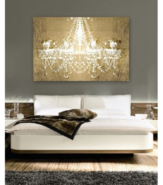 Chandelier On Gold Canvas Wall Art Regarding Chandelier Wall Art Inside Chandelier Canvas Wall Art (View 7 of 15)