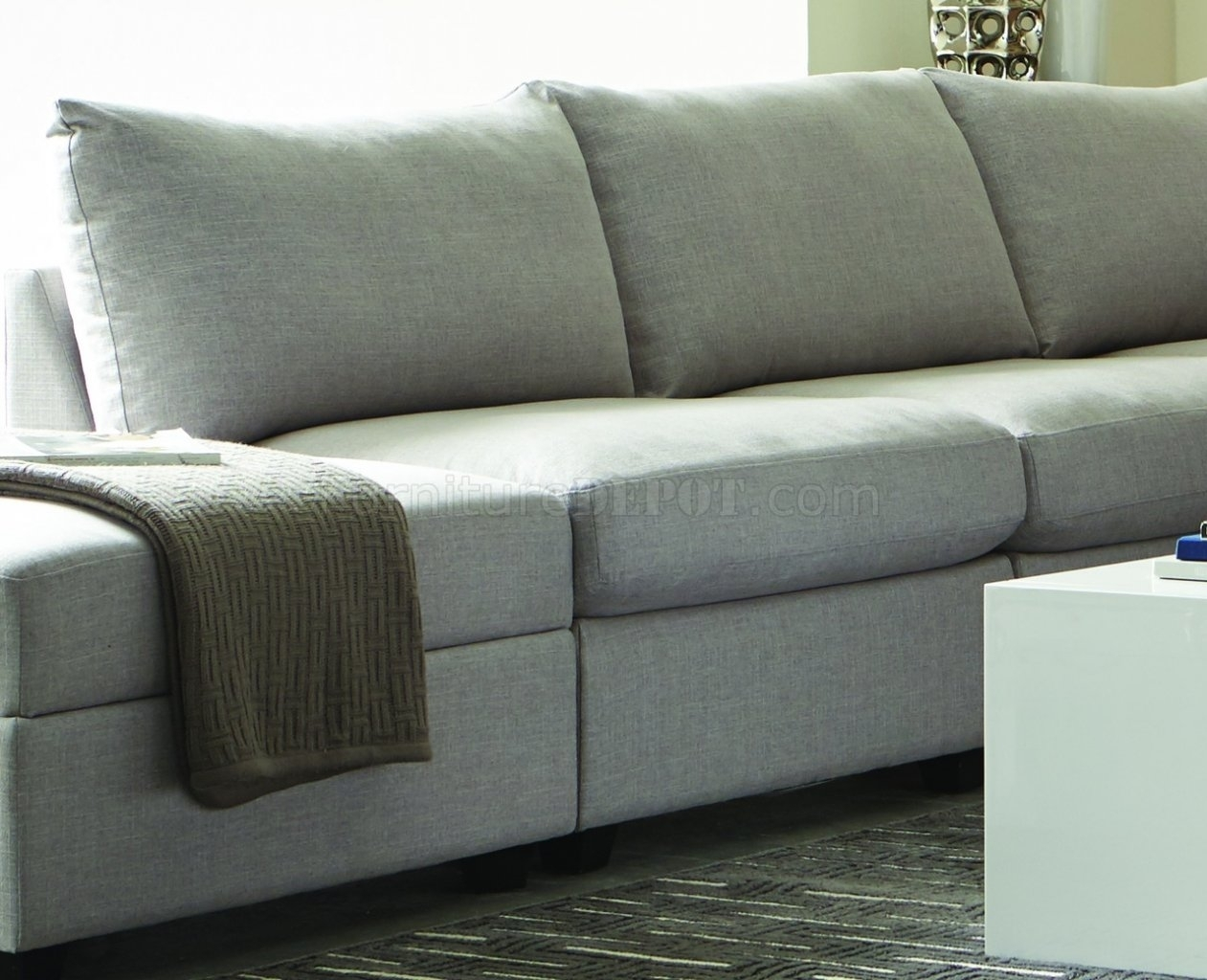 Charlotte 551221 – Scott Living – Coaster – Grey Sectional Inside Charlotte Sectional Sofas (View 2 of 10)