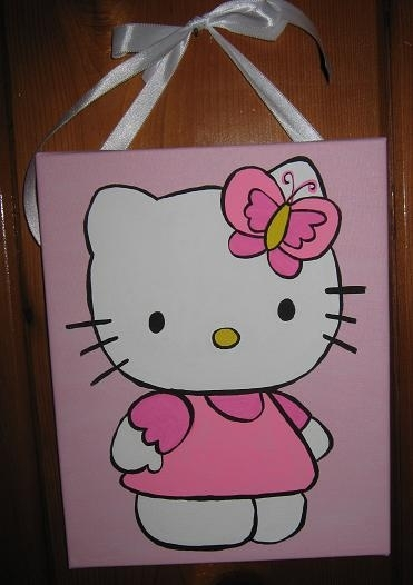 Charmed: Handpainted Canvas Wall Decor Within Hello Kitty Canvas Wall Art (View 5 of 15)