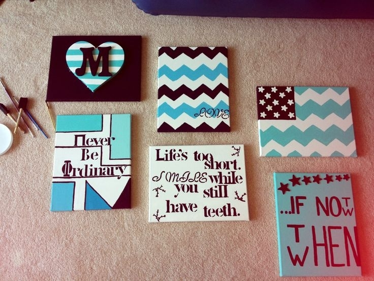 Charming Easy Diy Canvas Paintings #28 – Easy Diy Canvas Wall Art Regarding Canvas Wall Art For Dorm Rooms (Image 5 of 15)