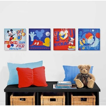 Cheap Mickey Mouse Wall Art, Find Mickey Mouse Wall Art Deals On Intended For Mickey Mouse Canvas Wall Art (View 10 of 15)