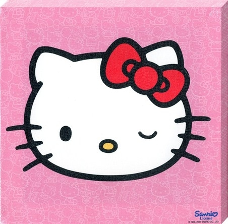 Cheeky Little Cat, Hello Kitty – Popartuk With Hello Kitty Canvas Wall Art (View 11 of 15)