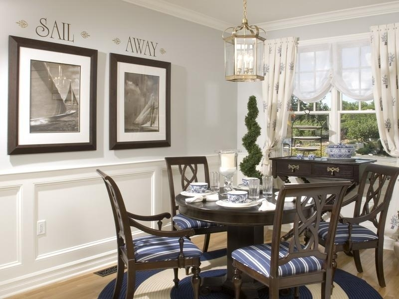 Cheerful Room Decorating Idea For Room Decorating In Dining Room Within Dining Room Wall Accents (View 4 of 15)