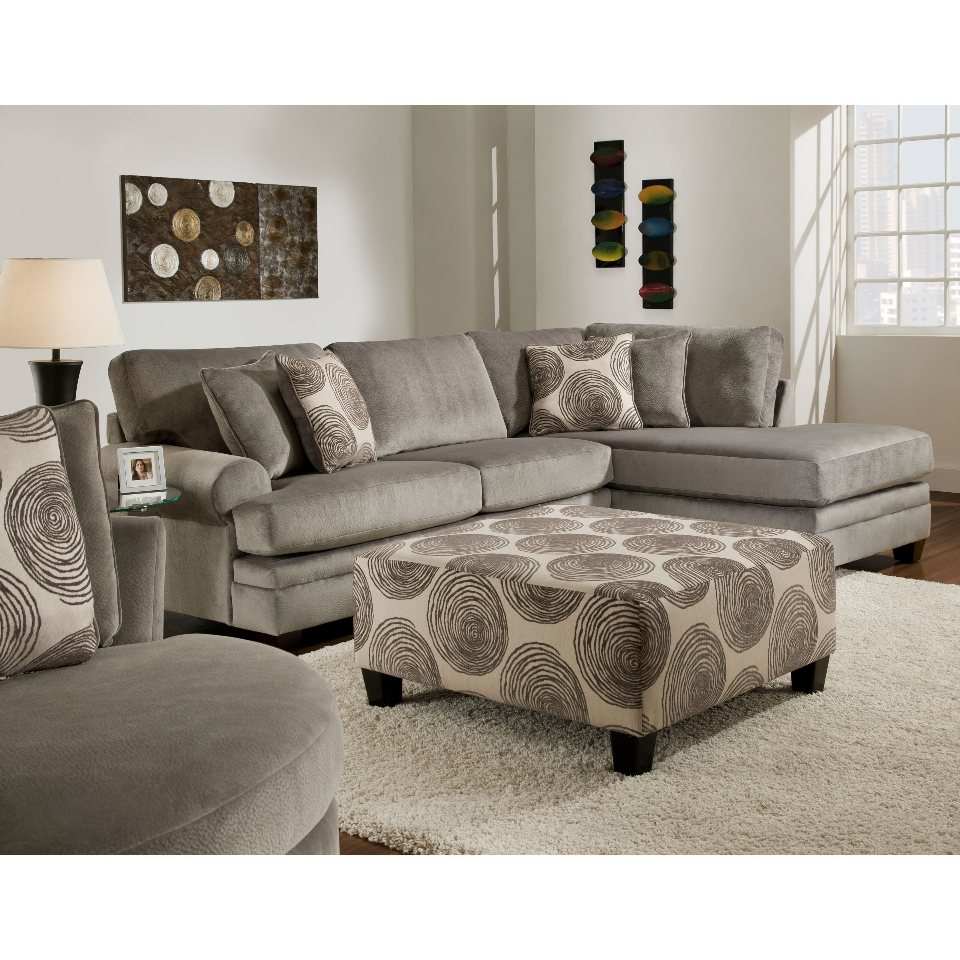 Chelsea Home Furniture Rayna Sectional Sofa | Hayneedle With Regard To Sectional Sofas For Campers (Image 1 of 10)