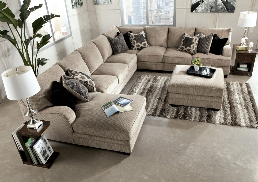 Chenille Sectional Sofa With Chaise – Hotelsbacau Regarding Oversized Sectional Sofas (View 10 of 10)