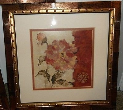 Cheri Blum–Framed & Matted Floral Art Prints, Cracked Linen – Lot Pertaining To Cheri Blum Framed Art Prints (View 14 of 15)