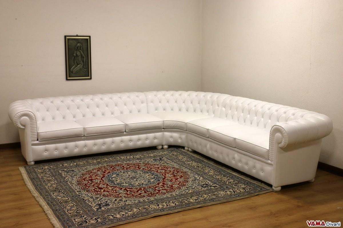 Chesterfield Corner Sofa With Round Corner | Chesterfield, Corner With Rounded Corner Sectional Sofas (Image 2 of 10)
