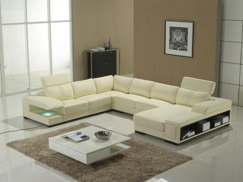 Chic U Shaped Sectional Sofas You Must Have : Awesome Offwhite With Regard To Modern U Shaped Sectional Sofas (View 10 of 10)